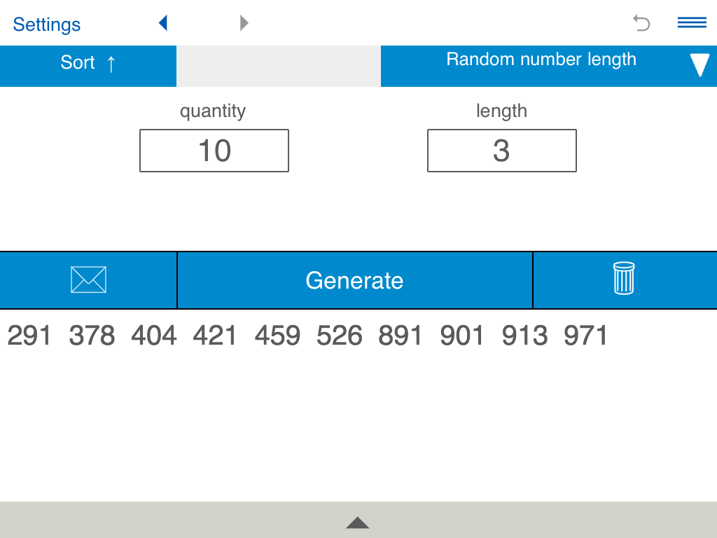 Generate a random number of a certain length